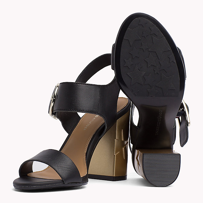 TOMMY HILFIGER Oversized Buckle Leather Sandals - SILKY NUDE - TOMMY HILFIGER Women - detail image 1
