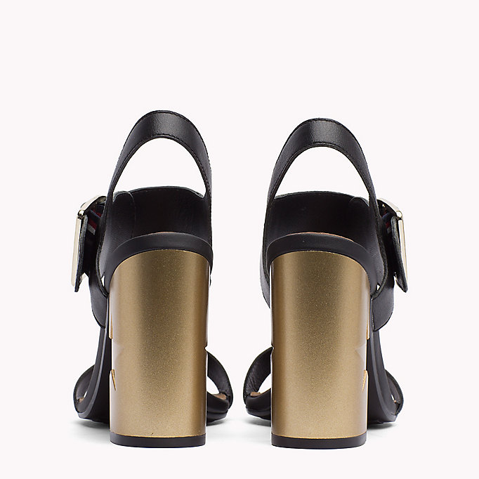 TOMMY HILFIGER Oversized Buckle Leather Sandals - SILKY NUDE - TOMMY HILFIGER Women - detail image 2