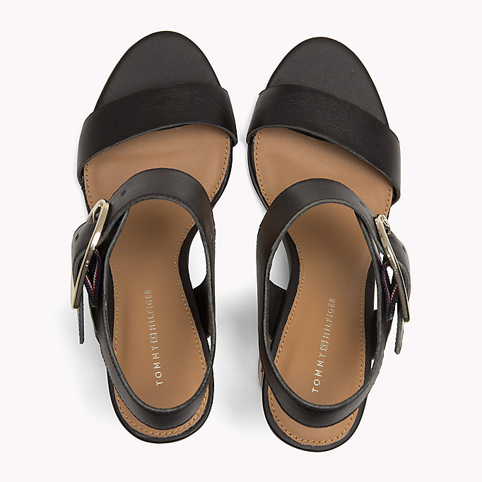 TOMMY HILFIGER Oversized Buckle Leather Sandals - SILKY NUDE - TOMMY HILFIGER Women - detail image 3