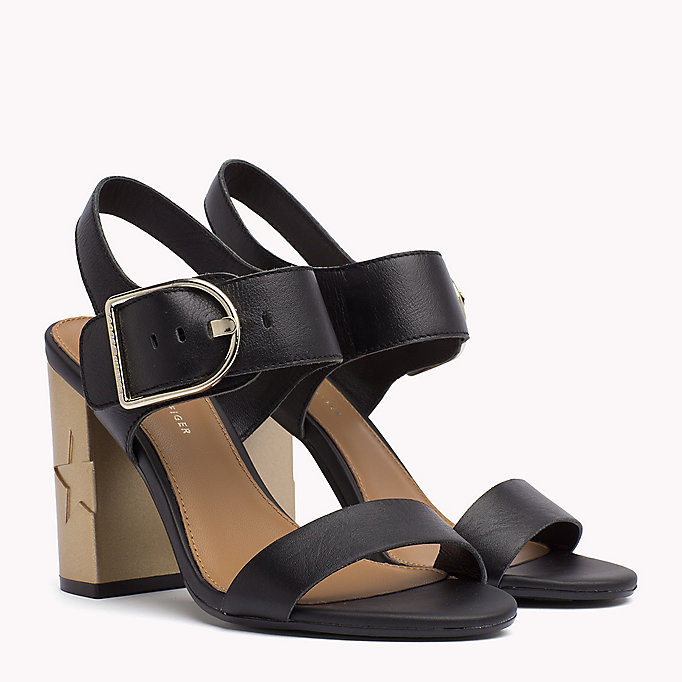 TOMMY HILFIGER Oversized Buckle Leather Sandals - SILKY NUDE - TOMMY HILFIGER Women - main image