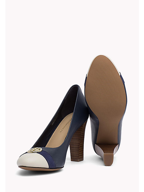 TOMMY HILFIGER Colour-blocked leren pump - TOMMY NAVY - TOMMY HILFIGER Pumps - detail image 1