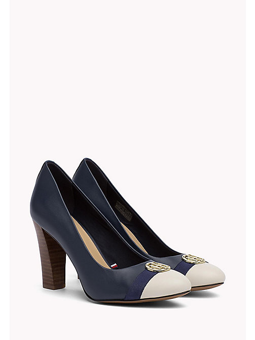 TOMMY HILFIGER Colour-Blocked Leather Pumps - TOMMY NAVY - TOMMY HILFIGER Pumps - main image