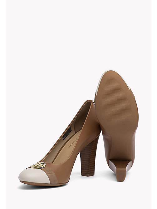 TOMMY HILFIGER Colour-blocked leren pump - SUMMER COGNAC - TOMMY HILFIGER Pumps - detail image 1