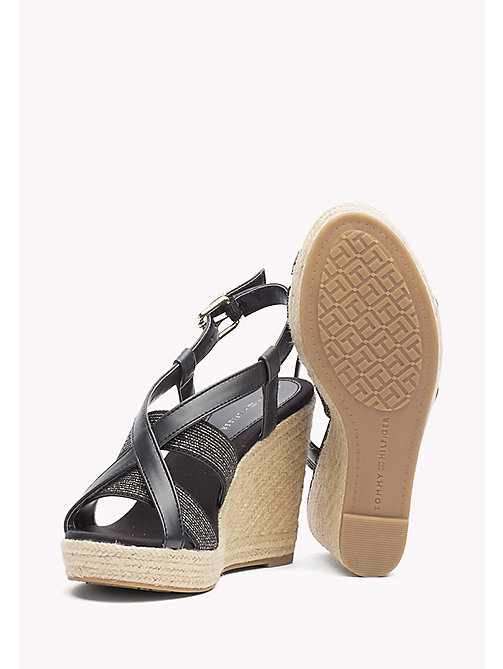 TOMMY HILFIGER Espadrille Wedges - BLACK - TOMMY HILFIGER Heeled Sandals - detail image 1