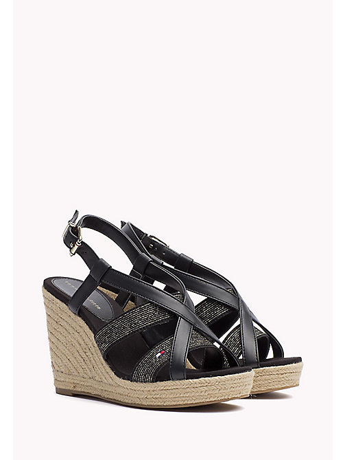 TOMMY HILFIGER Espadrille Wedges - BLACK - TOMMY HILFIGER Heeled Sandals - main image