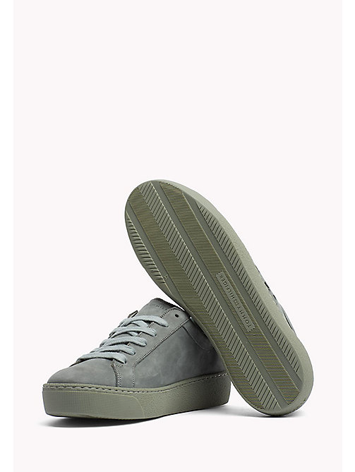 Nubuck Sneaker - LODEN GREEN - TOMMY HILFIGER Shoes - detail image 1