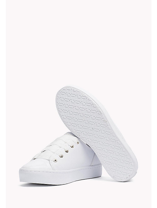TOMMY HILFIGER Leren sneaker - WHITE - TOMMY HILFIGER De Office Edit - detail image 1