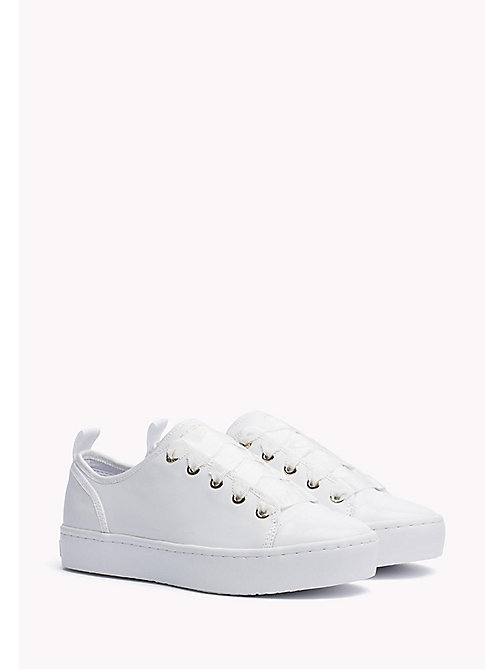 TOMMY HILFIGER Leren sneaker - WHITE - TOMMY HILFIGER De Office Edit - main image