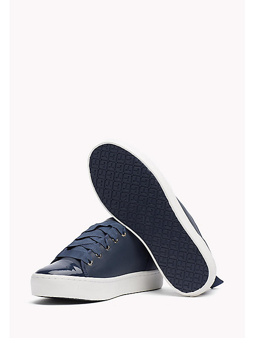 TOMMY HILFIGER Leather Sneaker - TOMMY NAVY - TOMMY HILFIGER Best Sellers - detail image 1