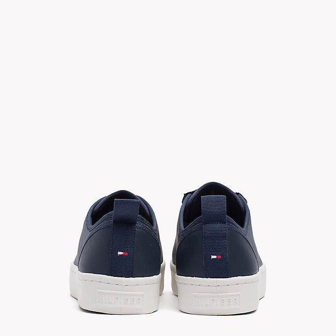 TOMMY HILFIGER Leather Sneaker - WHITE - TOMMY HILFIGER SHOES - detail image 2