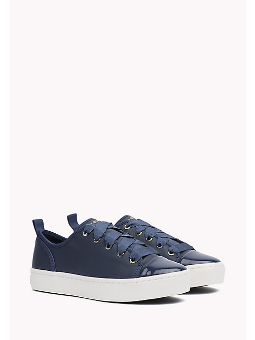 TOMMY HILFIGER Leather Sneaker - TOMMY NAVY - TOMMY HILFIGER Best Sellers - main image