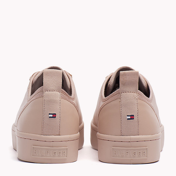TOMMY HILFIGER Leather Sneaker - BLACK - TOMMY HILFIGER SHOES - detail image 2