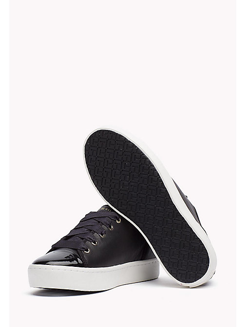 TOMMY HILFIGER Leather Sneaker - BLACK - TOMMY HILFIGER Best Sellers - detail image 1