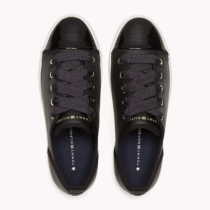 TOMMY HILFIGER Leather Sneaker - TOMMY NAVY - TOMMY HILFIGER SHOES - detail image 3