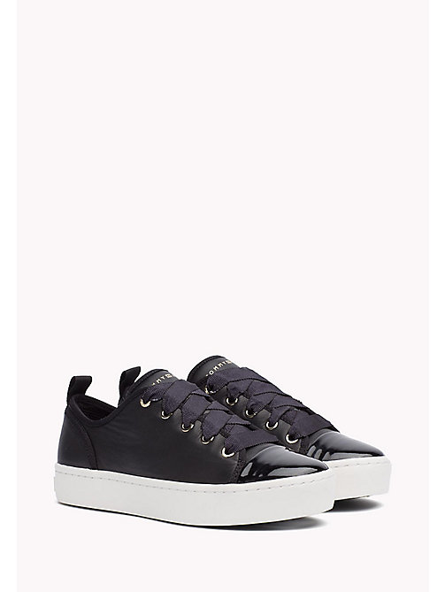 TOMMY HILFIGER Leather Sneaker - BLACK - TOMMY HILFIGER Best Sellers - main image
