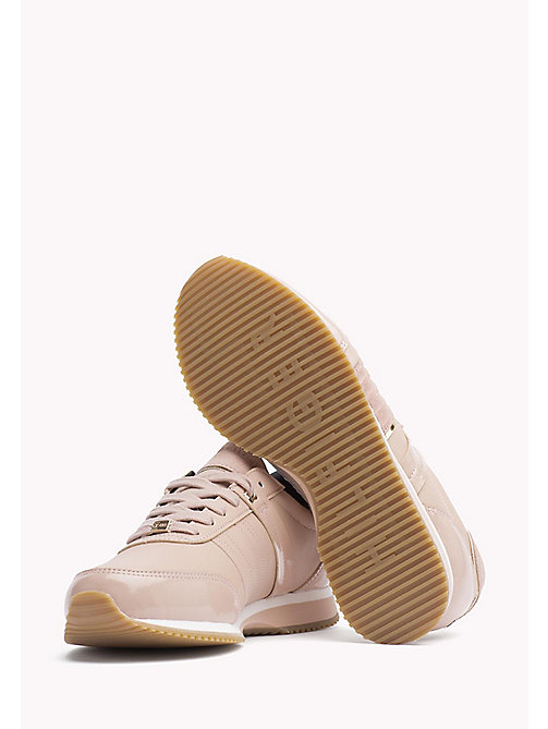 TOMMY HILFIGER Leather Sneaker - DUSTY ROSE - TOMMY HILFIGER Best Sellers - detail image 1