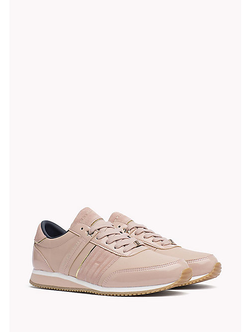 TOMMY HILFIGER Leather Sneaker - DUSTY ROSE - TOMMY HILFIGER Best Sellers - main image
