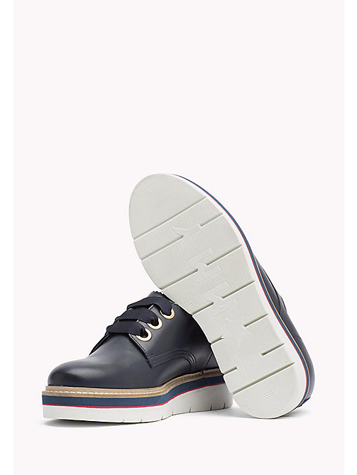 TOMMY HILFIGER Leather Lace-Up Shoe - TOMMY NAVY - TOMMY HILFIGER The Office Edit - detail image 1