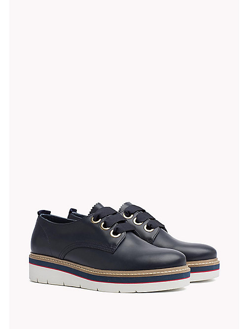 TOMMY HILFIGER Leather Lace-Up Shoe - TOMMY NAVY - TOMMY HILFIGER The Office Edit - main image