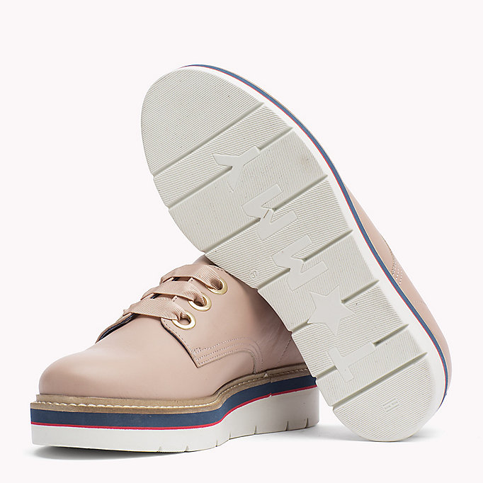 TOMMY HILFIGER Leather Lace-Up Shoe - BLACK - TOMMY HILFIGER SHOES - detail image 1