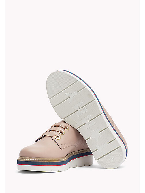 TOMMY HILFIGER Leather Lace-Up Shoe - DUSTY ROSE -  The Office Edit - detail image 1