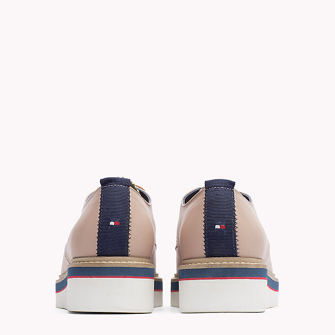 TOMMY HILFIGER Leather Lace-Up Shoe - BLACK - TOMMY HILFIGER SHOES - detail image 2