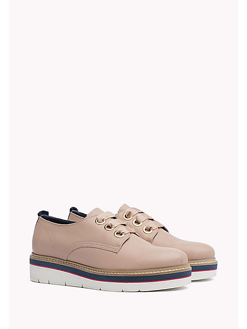 TOMMY HILFIGER Leather Lace-Up Shoe - DUSTY ROSE -  The Office Edit - main image