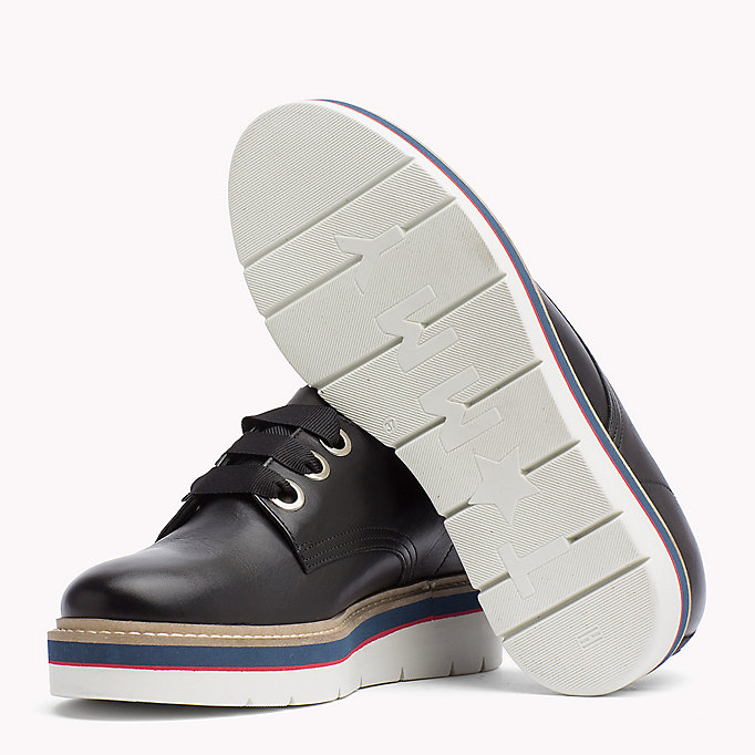 TOMMY HILFIGER Leather Lace-Up Shoe - TOMMY NAVY - TOMMY HILFIGER Women - detail image 1