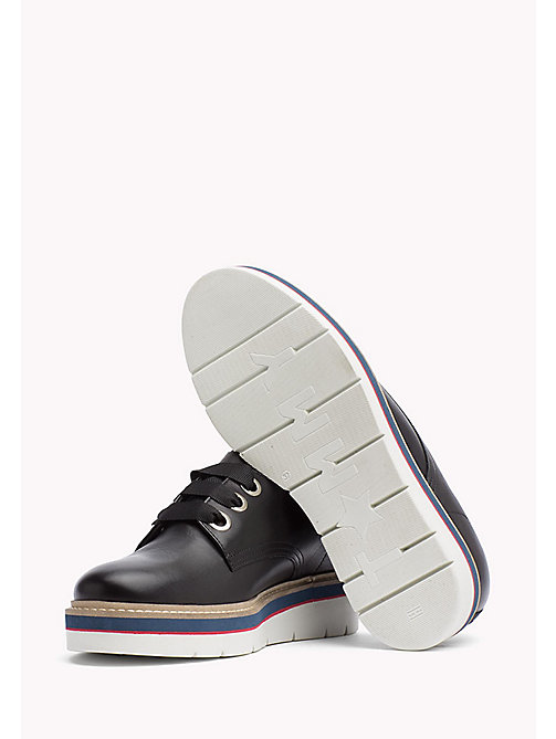 TOMMY HILFIGER Leather Lace-Up Shoe - BLACK -  The Office Edit - detail image 1