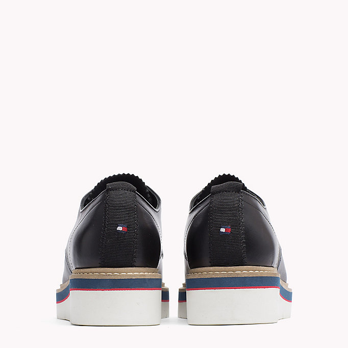 TOMMY HILFIGER Leather Lace-Up Shoe - TOMMY NAVY - TOMMY HILFIGER Women - detail image 2
