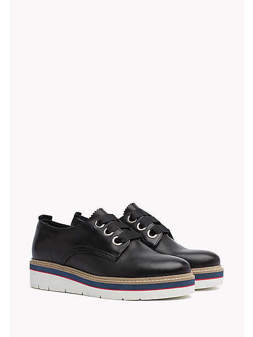 TOMMY HILFIGER Leather Lace-Up Shoe - BLACK -  The Office Edit - main image