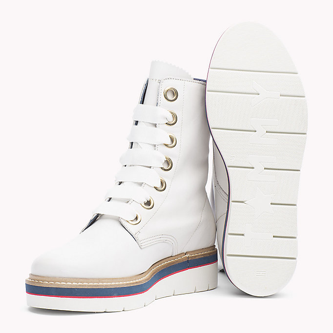 TOMMY HILFIGER Leather Boot - TOMMY NAVY - TOMMY HILFIGER SHOES - detail image 1