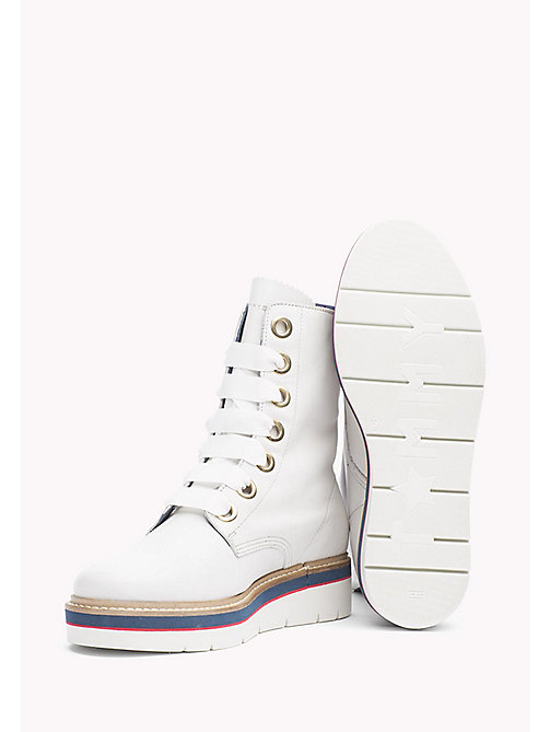 TOMMY HILFIGER Leather Boot - SNOW WHITE - TOMMY HILFIGER Boots - detail image 1