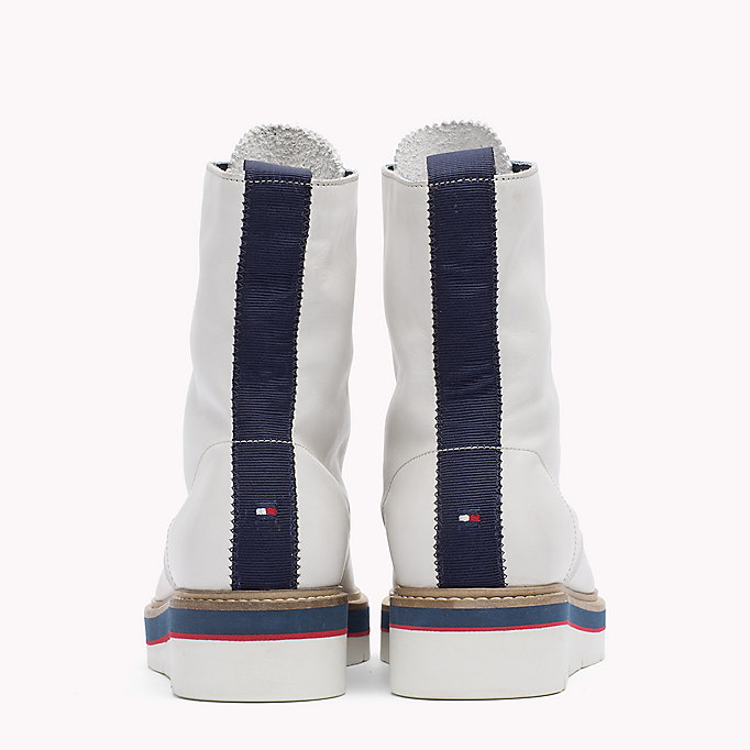 TOMMY HILFIGER Leather Boot - TOMMY NAVY - TOMMY HILFIGER SHOES - detail image 2