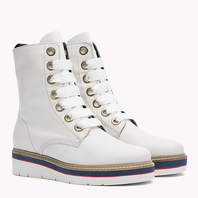 TOMMY HILFIGER Leather Boot - TOMMY NAVY - TOMMY HILFIGER SHOES - main image