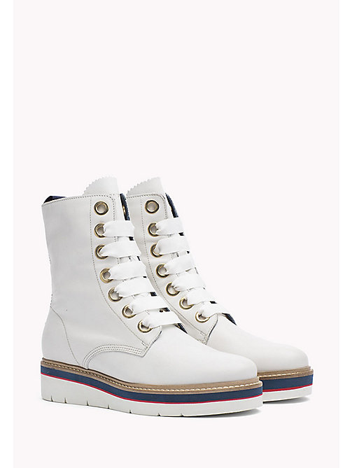TOMMY HILFIGER Leather Boot - SNOW WHITE - TOMMY HILFIGER Boots - main image