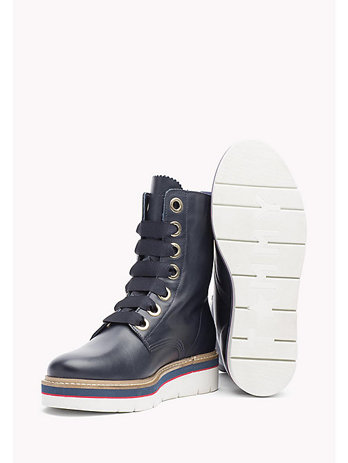 TOMMY HILFIGER Leather Boot - TOMMY NAVY - TOMMY HILFIGER Boots & Ankle Boots - detail image 1