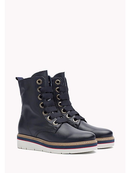 TOMMY HILFIGER Leather Boot - TOMMY NAVY - TOMMY HILFIGER Boots & Ankle Boots - main image