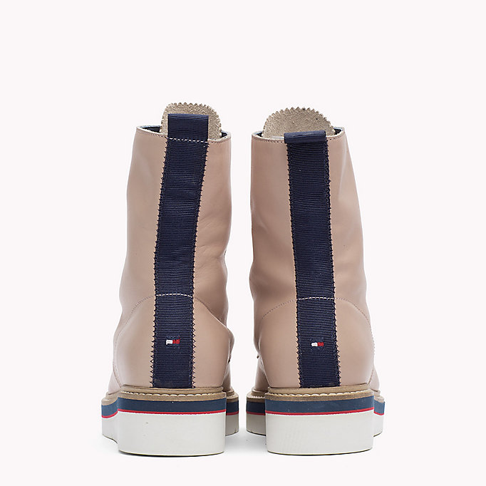 TOMMY HILFIGER Leather Boot - SNOW WHITE - TOMMY HILFIGER SHOES - detail image 2