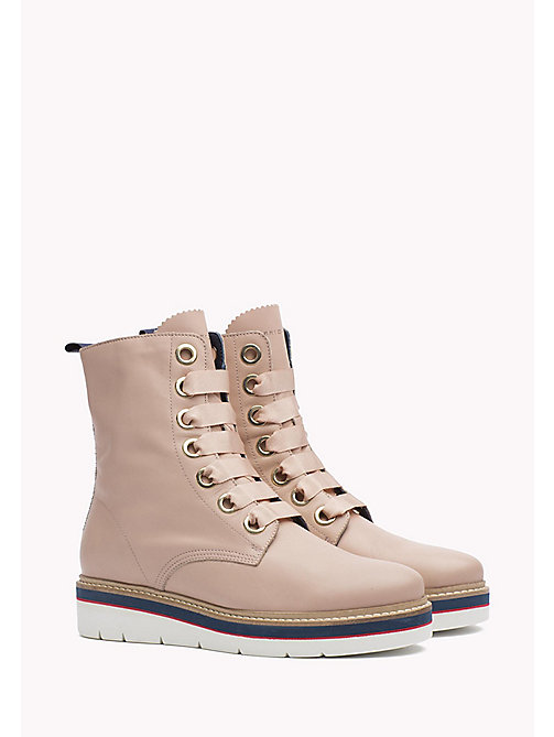 TOMMY HILFIGER Leather Boot - DUSTY ROSE - TOMMY HILFIGER Boots - main image