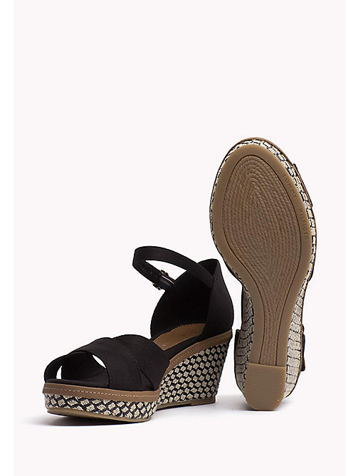 TOMMY HILFIGER Iconic Sandale - BLACK -  Wedges - main image 1