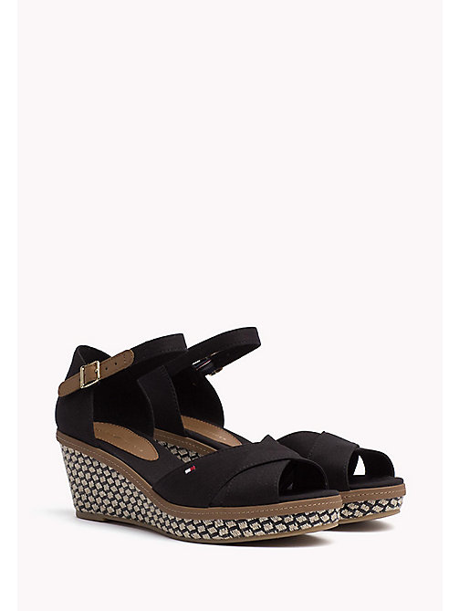 TOMMY HILFIGER Iconic Sandals - BLACK - TOMMY HILFIGER Wedges - main image