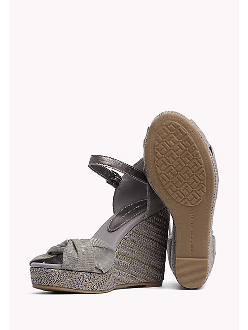 TOMMY HILFIGER Iconic Metallic Sandals - LIGHT GREY - TOMMY HILFIGER Wedges - detail image 1