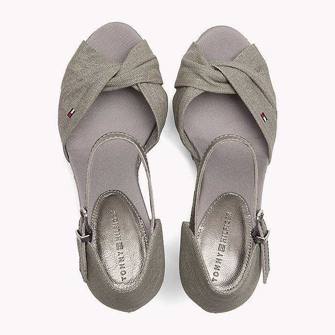 TOMMY HILFIGER Iconic Elena Metallic Sandals - SAND - TOMMY HILFIGER SHOES - detail image 3