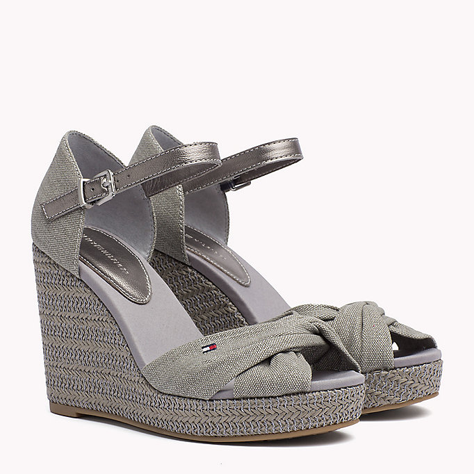 TOMMY HILFIGER Iconic Elena Metallic Sandals - SAND - TOMMY HILFIGER SHOES - main image