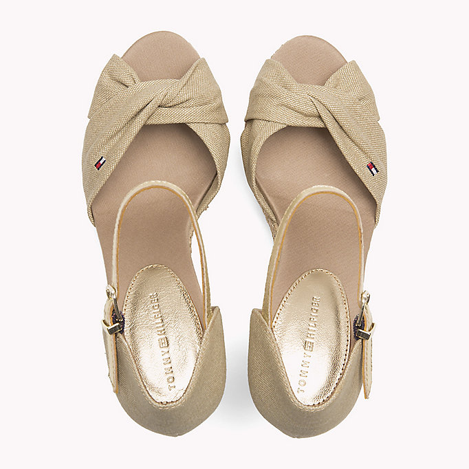 TOMMY HILFIGER Iconic Elena Metallic Sandals - MIDNIGHT - TOMMY HILFIGER SHOES - detail image 3