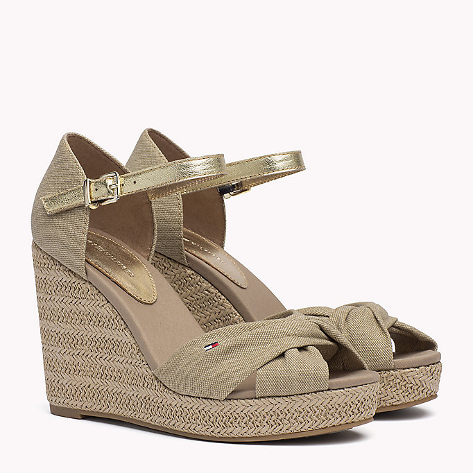 TOMMY HILFIGER Iconic Elena Metallic Sandals - MIDNIGHT - TOMMY HILFIGER SHOES - main image