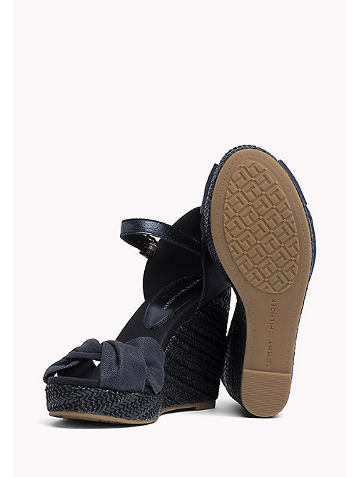 TOMMY HILFIGER Iconic Metallic Sandals - MIDNIGHT - TOMMY HILFIGER Wedges - detail image 1