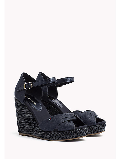 TOMMY HILFIGER Iconic Metallic Sandals - MIDNIGHT - TOMMY HILFIGER Wedges - main image
