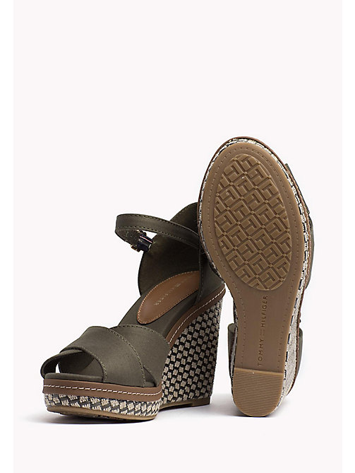 TOMMY HILFIGER Iconic Elena Sandals - OLIVE NIGHT - TOMMY HILFIGER Wedges - detail image 1